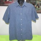 MENS BUCKLE BKE BLUE / WHITE PLAID L LARGE BUTTON DOWN CASUAL SHIRT EXCELLENT!!