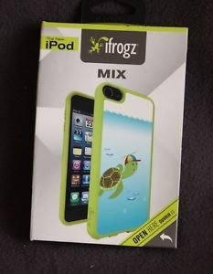 NEW IFROGZ MIX TURTLE CASE FOR IPOD TOUCH 5TH GENERATION GREEN FREE SHIPPING