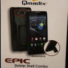 NEW QMADIX EPIC SWIVEL HOLSTER SHELL COMBO W/ KICKSTAND BLACK & RED