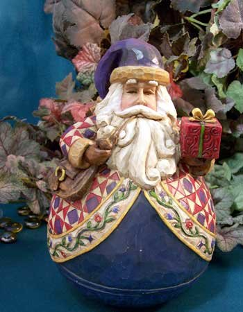 Jim Shore Roly Poly Santa Claus Bearing Gift Package