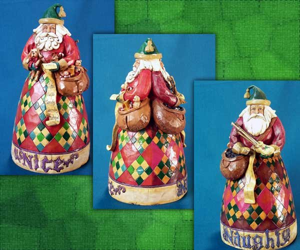 Jim Shore Santa Have You Been Naughty or Nice Figurine