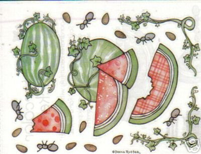 Provo Craft Watermelon Watercolor Stickers