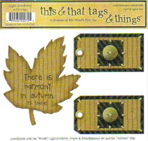 MME This & That Tags & Things Autumn