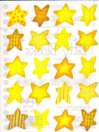 Provo Craft Bitty Block  Stickers Star Party