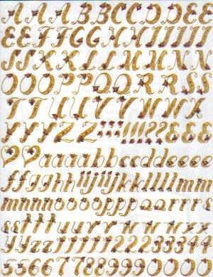 Colorbok Lace Alphabet