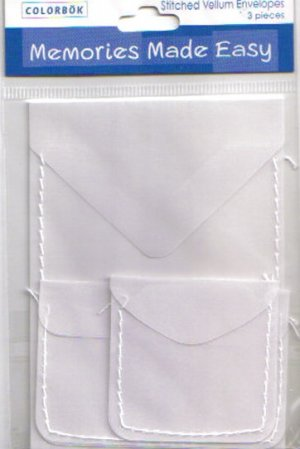 Colorbok Stitched Vellum Envelopes