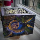 Abstract painted chest