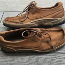 Men's Clarks 78611 Tan Leather Lace Up Shoes Size 11 M MINT condition!