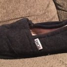 Black Wool TOMS Slip On Shoes  women's size 7