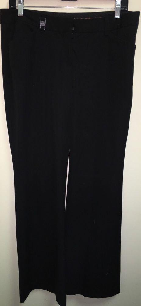 Women's Black Size 8 R Express Editor Dress Pants