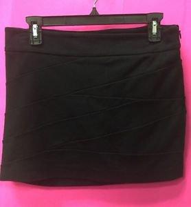 EXPRESS Bandage Black Mini Skirt - size 2 women's stretch Rayon Nylon
