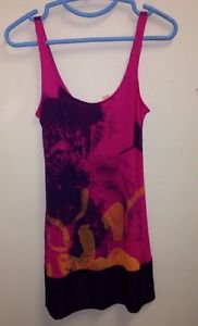 Women's XXS Express pink Purple And Black Tank Top