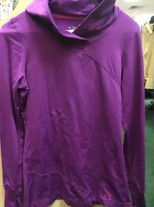 Under Armour Women's Long Sleeve Purple Hooded Shirt. Size Small