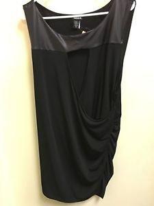 Women's Torrid Size 4 Black Sleeveless Long Blouse Dress