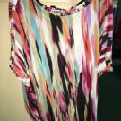 Women's Express Multi Color Short Sleeve Shirt. Size Extra Small