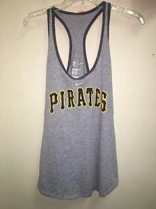 Women's Grey Nike 2Xl Pittsburgh Pirates Baseball Racerback Tank Top