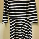 Express Striped Black White Red Three Quarter Sleeve Dress Size Xs