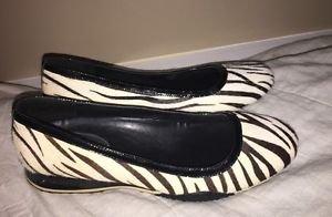 Cole Haan Nike Air Animal Print Fur Wedges Shoes 8.5 Women's