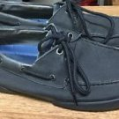 Men's Sperry Top Sider Halyard 0775528 Black Canvas Boat Shoes Sz 13