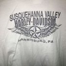 Men's 3Xl White Harley Davidson Harrisburg Pennsylvania T-Shirt