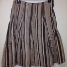 Women's New York & Company Skirt, Sz 4, Brown Striped