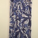 Ann Taylor Loft Women's Small Blue And White Full Legnth  Maxi Dress