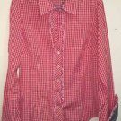 Lilly Pulitzer Women's Size 10 Red White Plaid Blouse
