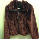 Women's Express Size Small Burgundy Fur  Coat