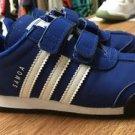 Toddler Size 9 Blue White Adidas Samoa Velcro Sneakers Ortholite