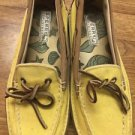 Women's Sperry Top Sider  7.5 Yellow Boat Shoes Straw Heel