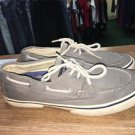 Sperry Mens HALYARD 0777867 Chocolate Salt Washed Canvas SZ 10  (8331)