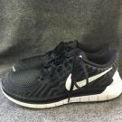 $147 Retail Nike Free 5.0 White / Black Running Shoes 724383-002 Womens US 7.5