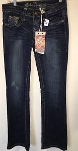 Women's Size 3 Wallflower Denim Jeans Vintage Dark Wash Boot Cut NWT