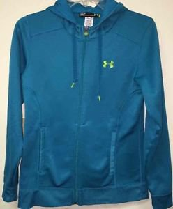 Women's Small Teal Blue Under Armour Zip Up Hoodie Jacket