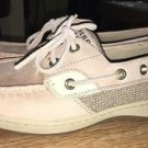 Sperry Top-Sider Women's Bluefish 2 Eye Linen Oat 9276619 Boat Shoes Size 8*NICE