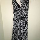 White House Black Market Size 2 Zebra Halter Dress