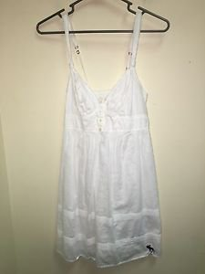 Ladies Abercrombie And Fitch Small White Spaghetti Strap Dress