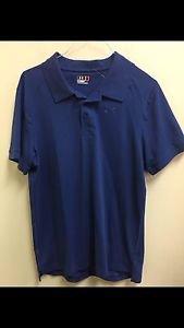 Men's Medium Blue Loose Under Armour Short Sleeve Polo Shirt