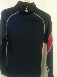 Mens Small Black/Red Under Armour Long Sleeve Mock Shirt