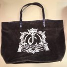 Authentic Juicy Couture Tote Bag Brown Velour  Purse retails$198