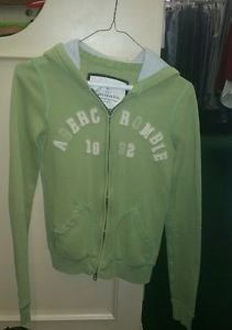 Women's Abercrombie and Fitch green zip up hoodie size large