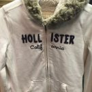 Women's Medium Hollister White Hoodie Fur Inside W Hood