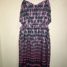 American Eagle Size 4 Spaghetti Strap Dress Pink White Navy Knee Legnth