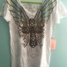 Women's Xl Graphic Angels And Diamonds Tee