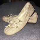 Women's Size 8 Michael Kors Tan Snakeskin Loafers/moccasins/flats Shoes