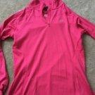 Women's Pink  Extra Small Under Armour Heat Gear Half Zip Shirt