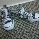 Unisex converse mens size 5 womans size 7 black and white Zebra Chucks sneakers