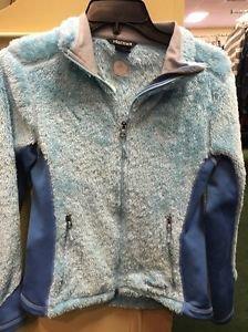 Marmot Blue Soft Zip Up Sweatshirt. Size Small