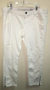 Women's CONVERSE One Star White Low Waist Denim Jeans Size 18 Nwot