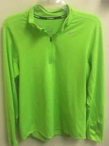 Men's Small Nike Dri Fit Pullover Half Zip Neon Green Shirt